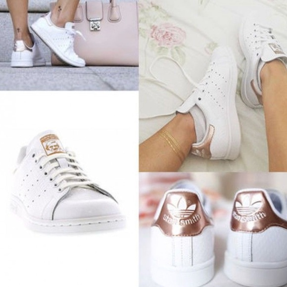 891108ef0b0b30 adidas Shoes - Adidas Women s Rose Gold Stan Smiths